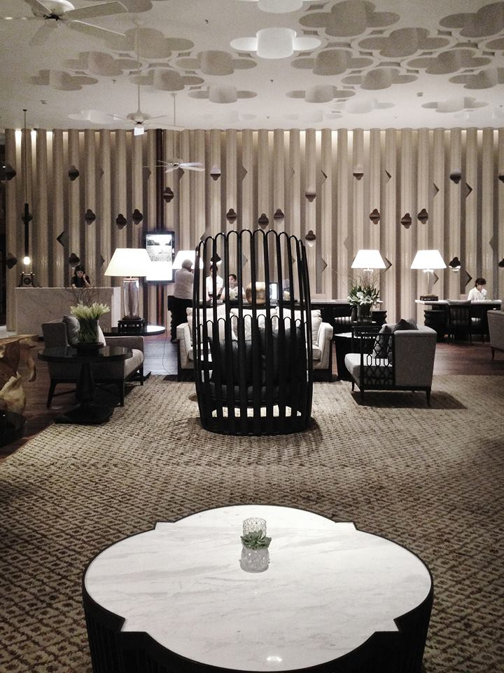 The lobby of Hua Hin Marriott Resort & Spa which PIA recently designed.