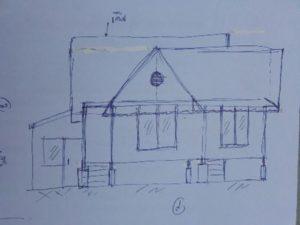 small house sketich