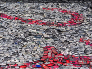 a-pile-of-discarded-mobile-phones