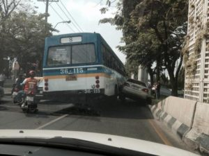 Bangkok's notorious bus number 8 in an accident
