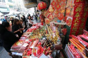 Chinese New Year shopping in Bangkok