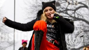 Madonna at Trump protest