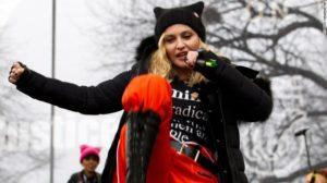Madonna at Trump protest