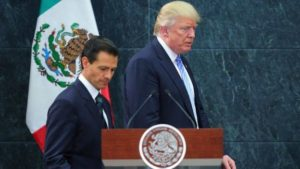 Mexican leaderPresident Enrique Pena Nieto with US President Donald Trump