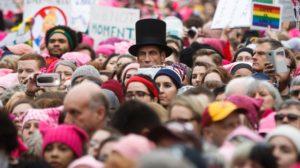Women Trump protest two