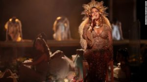 Beyonce performing at Grammys