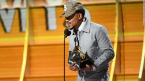 Chance the Rapper accepts the Grammy Award