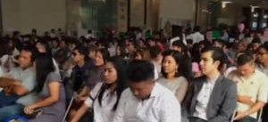 Couples waiting to register their marriage at Bang Rak on Valentine's Day