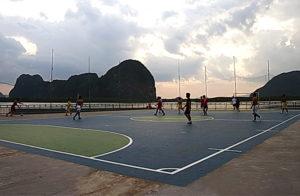 Koh Panyee boys playing football