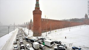 Moscow traffic congestion
