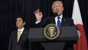 US President Trump and Japanese Prime Minister Abe