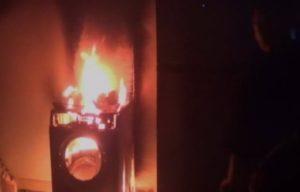 Washing machine caught fire in Chacheongsao (1)