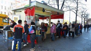 Germans,buying,döner kebab