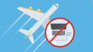 Laptop ban graphic