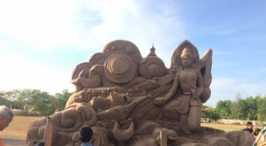 Sand sculpture in Rayong