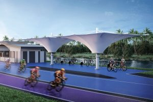 Survarnabhumi Sky Lane bike lanes renovation