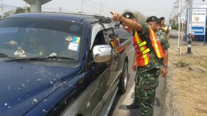 Drunk driving arrest during Songkran