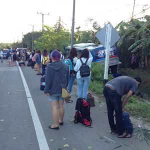 Koh Pha Ngan tour bus accident, two