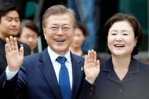 South Korea presidential candidate Moon Jae-in