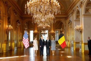 Trump with Belgian King and Queen