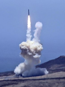 US intercept missile takes off