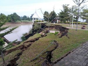 river bank subsidence two