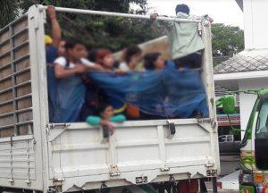 Myanmar workers returning home