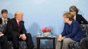 US President Trump meets German Chancellor Angela Merkel