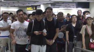 Bangkok airport immigration queues