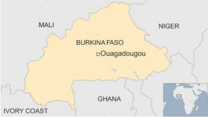 Map Burkina Faso